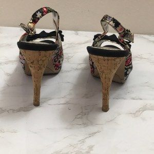 Rampage Shoes - RAMPAGE WOMEN'S SIZE 7.5 FLORAL SLING BACK HEELS